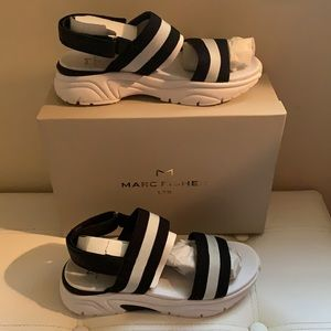 -MARC FISHER SANDAL, SPORTY, SIZE 8-1/2M